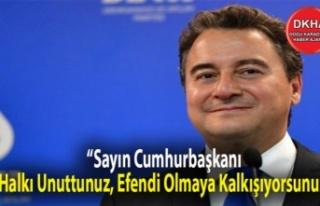 Babacan'dan Erdoğan'a: 'Sayın Cumhurbaşkanı,...