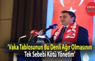 Ali Babacan: 'Vaka Tablosunun Bu Denli Ağır Olmasının...