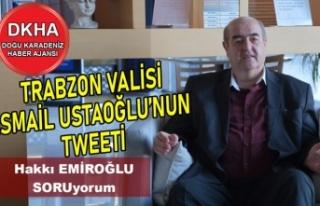 Trabzon Valisi İsmail Ustaoğlu'nun Tweeti-DKHA