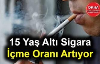 15 Yaş Altı Sigara İçme Oranı Artıyor