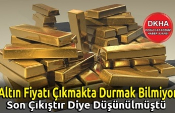Altın Fiyatı Çıkmakta Durmak Bilmiyor