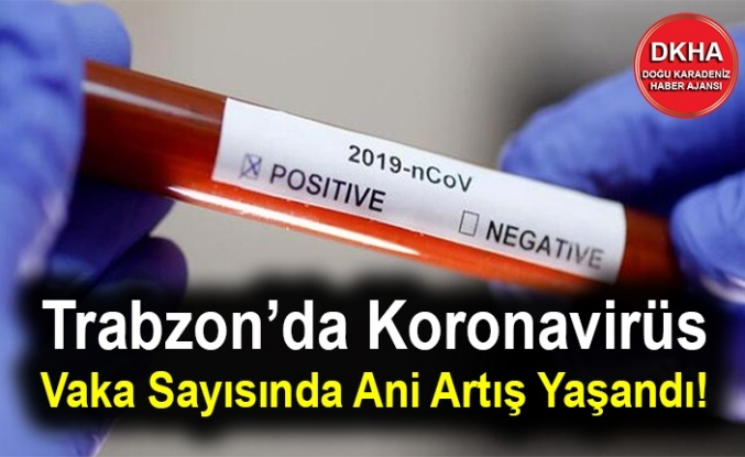 Trabzon'da Koronavirüs Vaka Sayısında Ani Artış Yaşandı!