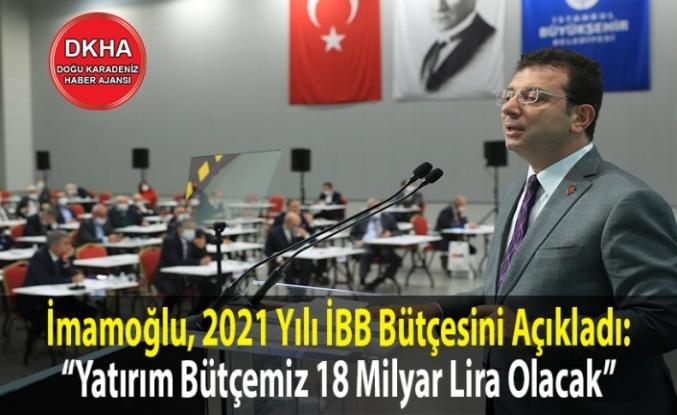 İmamoğlu, 2021 Yılı İBB Bütçesini Açıkladı.